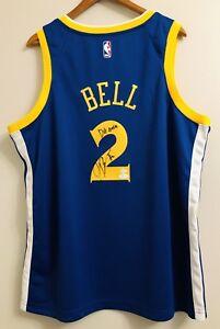 """the best attitude d710a 4a37b Details about Jordan Bell """"Dub Nation"""" Warriors Signed XL Nike NBA Swingman  Jersey (JSA COA)"""