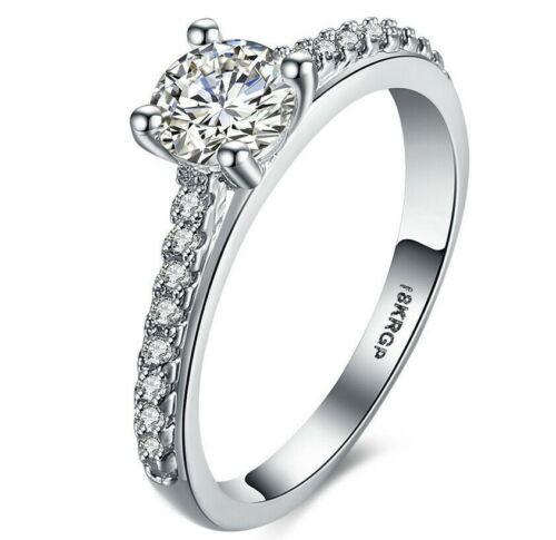 Crystal Pav/'e 5.00 CTTW Princess Cut Ring Set in 18K White Gold Size 7