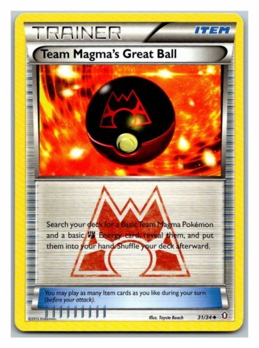 Team Magma's Great Ball 31/34 Double Crisis Pokemon Card Exc Cond