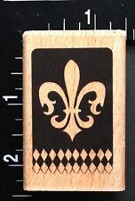 New Stone Fleur De Lis Wood Mounted Rubber Stamp JUDIKINS 3363G