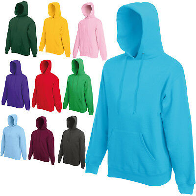 FRUIT OF THE LOOM CLASSIC HOODED SWEAT TOP HOODIE SWEATER JUMPER SS224   eBay