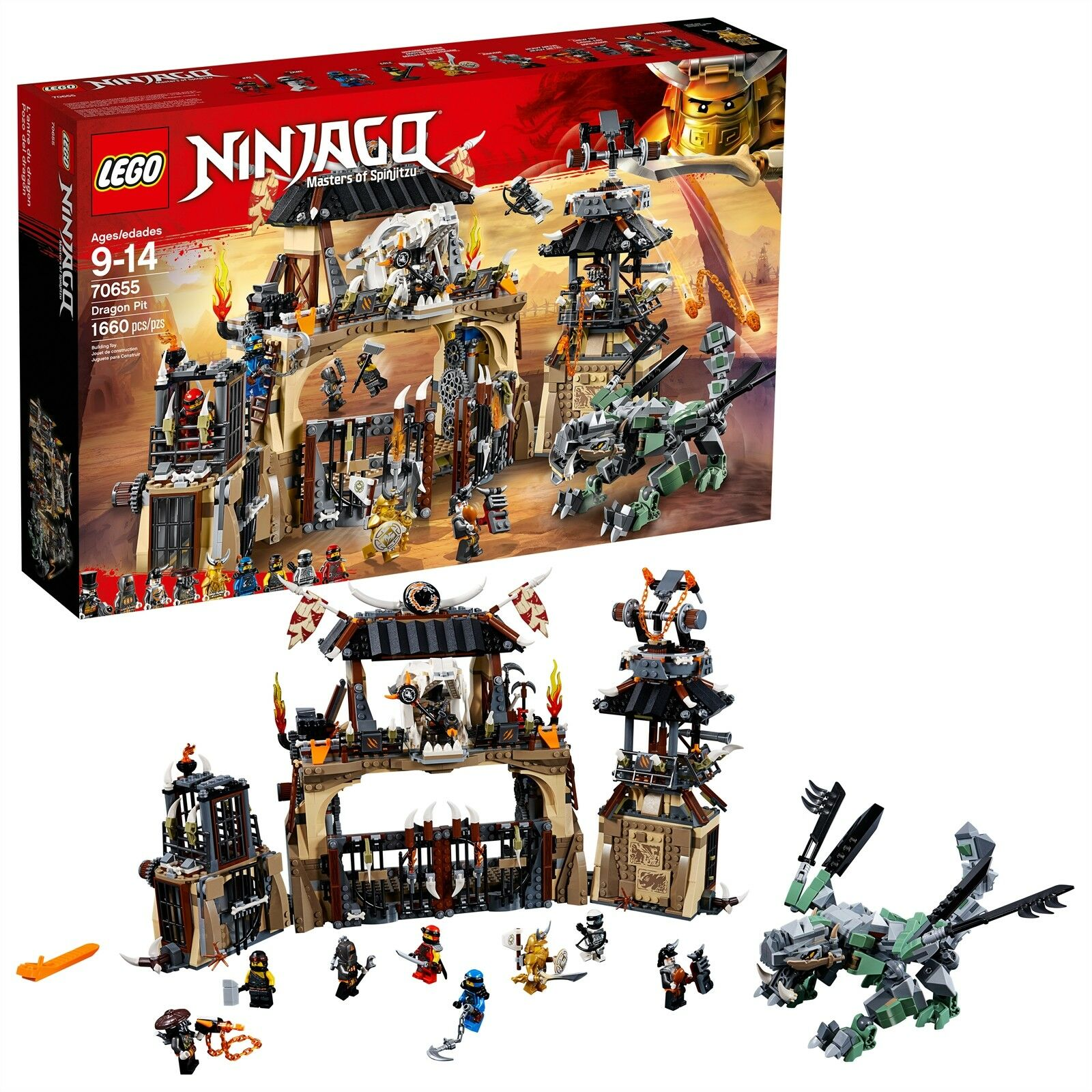 LEGO® NINJAGO® - Dragon Pit 70655 1660 Pcs