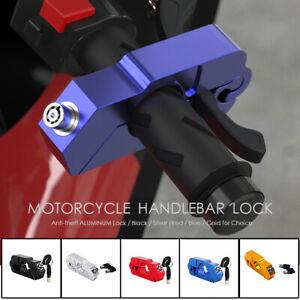 Motorcycle Handlebar Grip Brake Lever Lock Anit Theft Security Lock Heavy Duty