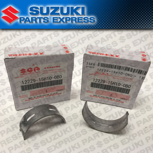 2008-2017 SUZUKI HAYABUSA GSX1300R MAIN CRANKSHAFT BEARINGS 2 PACK BLACK