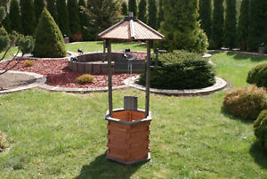 Wishing-Well-Large-Wooden-1-25-1-35-m-Garden-Ornaments-Wood-with-Planter-Pot