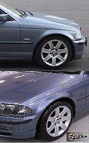BMW E46 Saloon 1998-2001 alas Berlina//Raíces de acero pintado azul 372 Nuevo