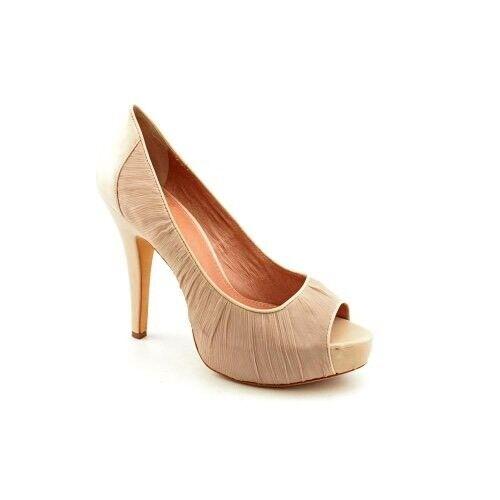 Vince Camuto Women's Moda Peep-Toe Pump Size 9 B color Bisque Beige reail  110