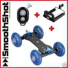 CAMERA DOLLY CAR WHEEL ROLLER SLIDER DSLR SMARTPHONE BLUETOOTH REMOTE PACKAGE