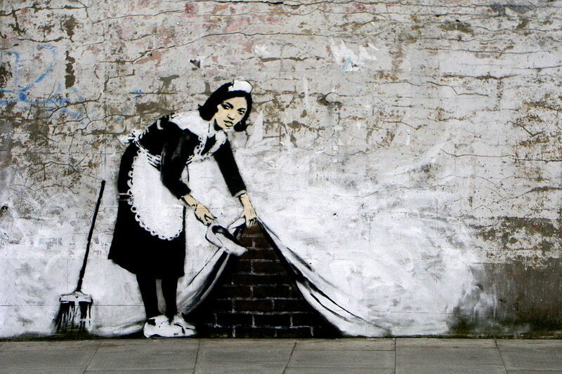 Banksy Camden Maid   poster  A2 SIZE