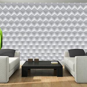 vlies wandbild tapeten tapete grau 3d wellen muster metall weiss kunst 3fx2848ve ebay. Black Bedroom Furniture Sets. Home Design Ideas