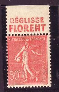 TIMBRE-PUB-REGLISSE-FLORENT-50-c-semeuse-N-199-carnet-TTB