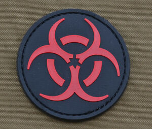 PVC-Rubber-Patch-034-Biological-Hazards-034-with-VELCRO-brand-hook