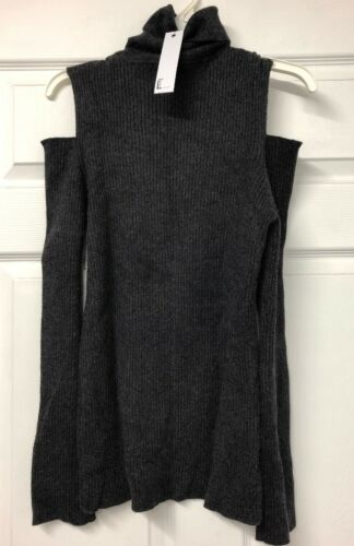 Knit Large costine Sara Love Charcoal Token A Size Cold Womens Weater New Shoulder HWc4HZ