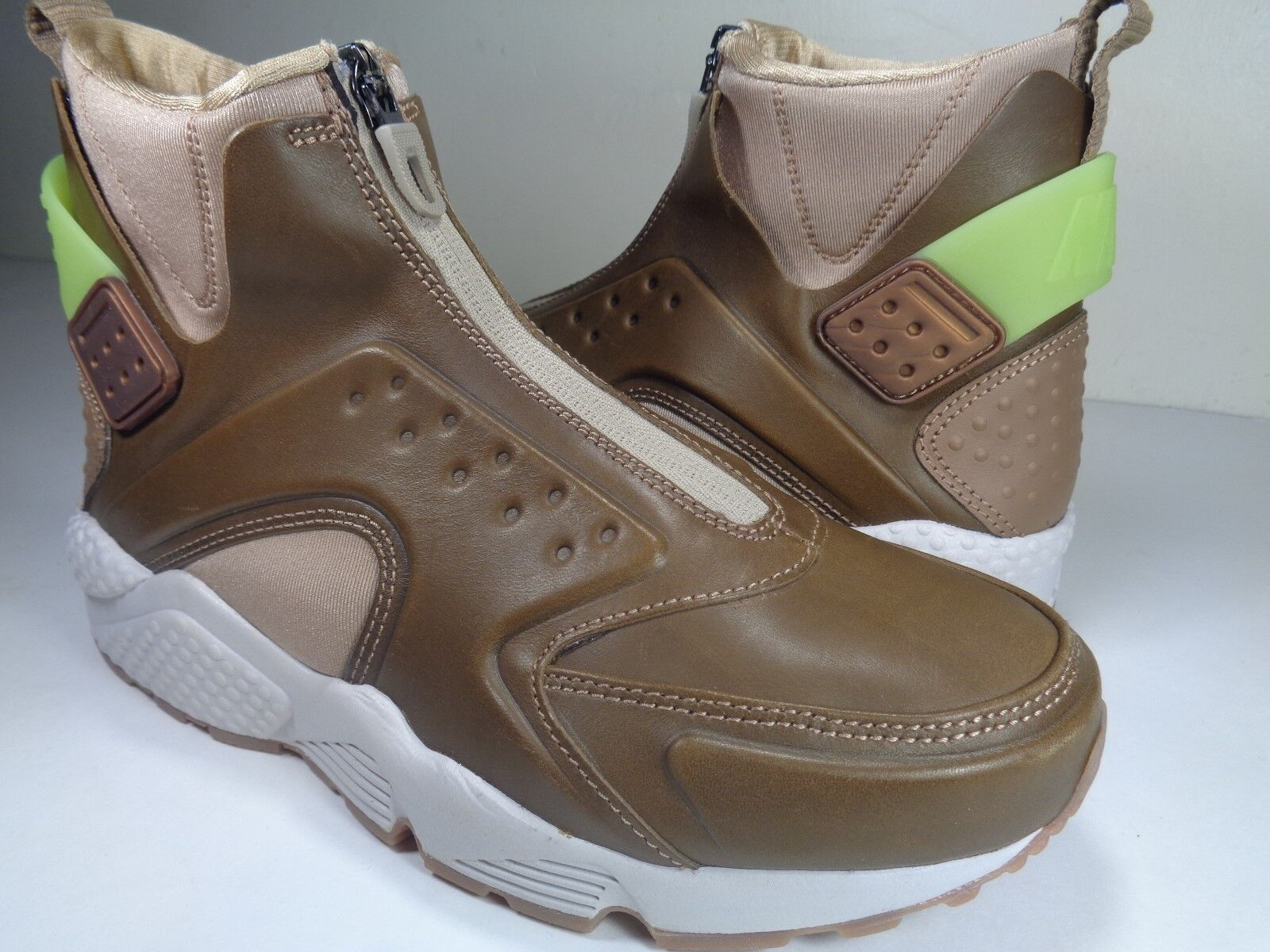 Womens Nike Air Huarache Mid Metallic Coin Green Light Brown Price reduction New shoes for men and women, limited time discount