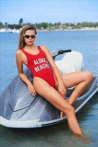 Black-034-Get-Salty-034-High-Leg-One-Piece-Swimsuit-Red-also-available