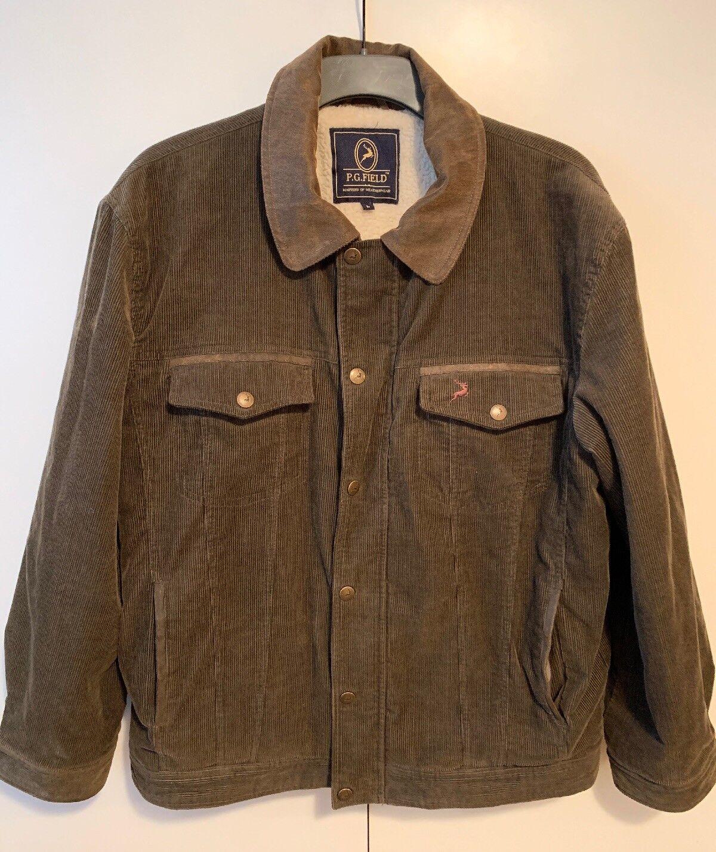 P G Field Mens Size L Coat