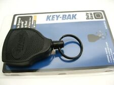 KEY-BAK Super48 Locking Retractable Key Holder Black Polycarbonate Case Steel