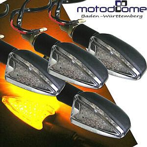 4X-LED-MINI-BLINKER-MINI-WEISS-ARROW-MOTORRAD-QUAD-E-GEPRUFT-ROBUST-TRANSPARENT