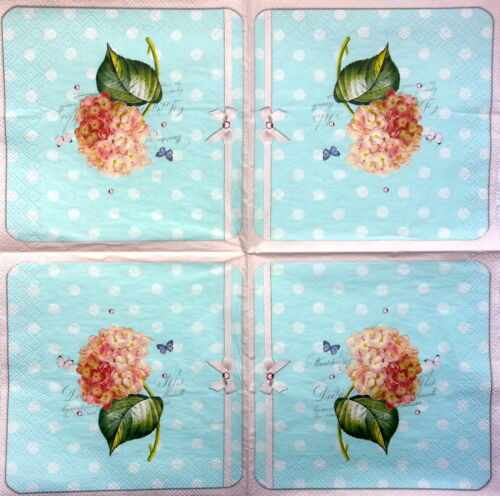 4 Vintage Table Paper Napkins for Decoupage Lunch Decopatch  Craft Little Floral