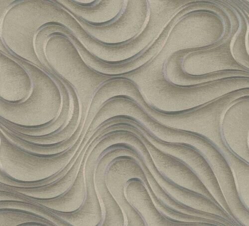 4,98£//1qm Colani designer wallpaper Evolution Marburg wave gold 56322