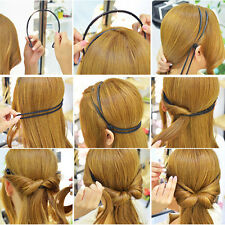 Elegante Frauen Haarschmuck justierbares elastisches Haarband Haartracht Machen