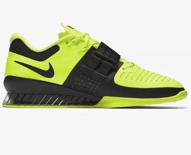 Nike Romaleos 3 Size 14 EUR Yellow Black 852933 700