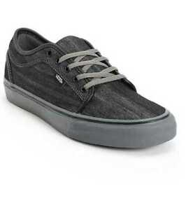 4d097dc194eefb NEW MEN S 8 VANS CHUKKA LOW DENIM BLACK   PEWTER SKATE SHOES
