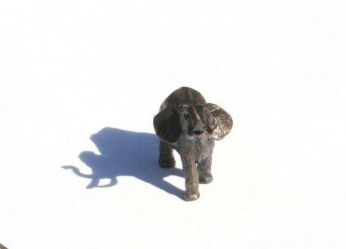 Elephant Miniature Solid Genuine Bronze by  Butler and Peach Gift Boxed 2037