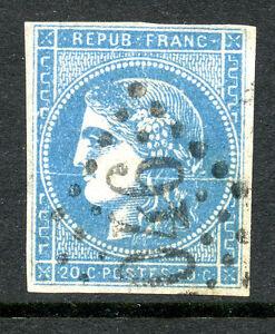 classique-de-France-Bordeaux-N-45C-Variete-trait-blanc-traversant-le-timbre