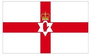 5x3ft Northern Ireland Northern Ireland Flag Ulster Hand Irish Football Cricket