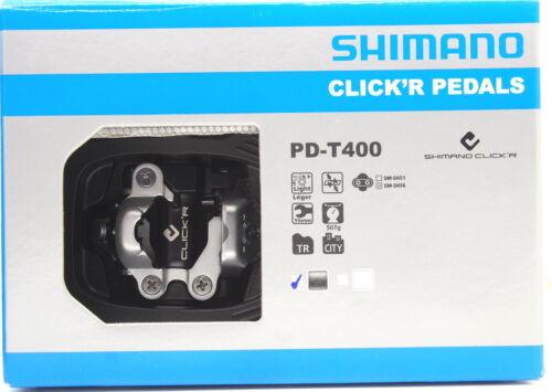 Shimano PD-T400 Trekking CLICK'R SPD Pedals Set w// Cleat SM-SH56