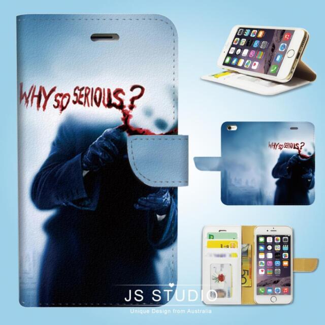 iPhone SE 6 6S 7 8 Plus 5 5S 5C 4 4S Wallet Case Cover Batman Joker W015