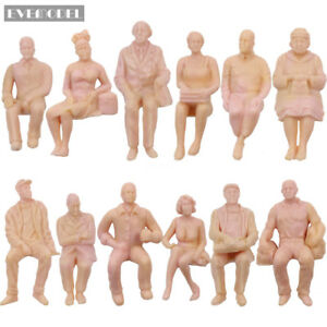 12pcs-G-scale-Figures-1-25-All-Seated-Unpainted-People-Model-Train-Railway-P2510