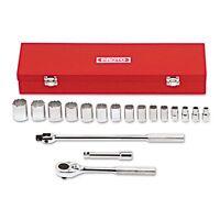 Proto 18-piece Mechanic's Tool Set, Sae, 1/2 Drive, 3/8 To 1 1/4, - Pto54122 on sale