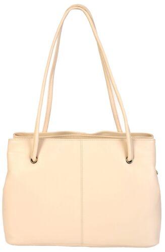 Gigi Classic Soft Leather Three Section Shoulder Bag 9499