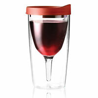 No Spill Acrylic Sippy Wine Glass - Insulated Wine Tumbler - Safe Won't Shatter on Sale