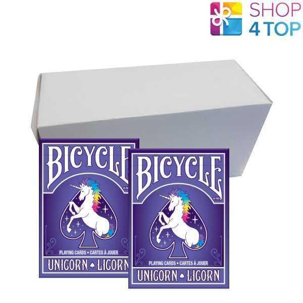 12 Cubiertas Bicicleta Unicornio Poker jugando A Las Cochetas USPCC Nueva Funda Caja Sellada De Cubierta