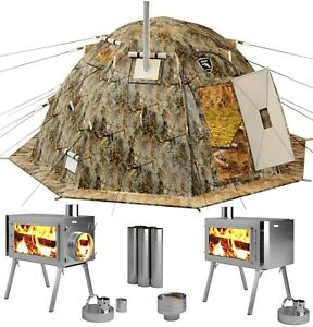 Hot-Tent-with-Wood-Stove-4-Season-Outfitter-Hunting-Expedition-Arctic-Camping