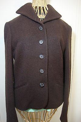 Ralph Lauren Brown Wool Button Coat Womens 6