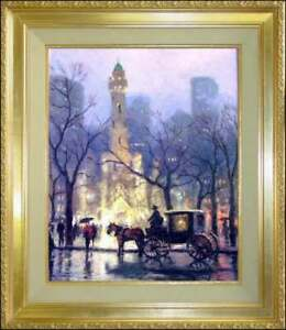 Thomas-Kinkade-Chicago-The-Water-Tower-20x16-I-P-Framed-Limited-Edition-Canvas