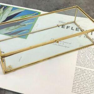Golden-Vintage-Glass-Lidded-Box-Edge-Bracelet-Keepsake-Display-Personalized