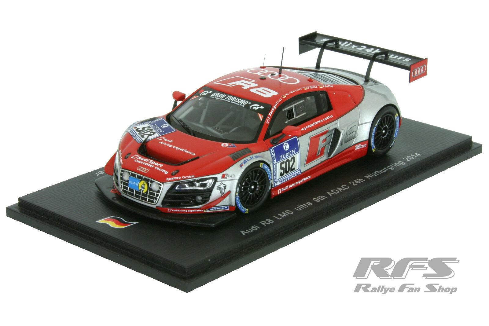 Audi r8 LMS ultra-se examina con atención - 24h nurburgring 2014 - 1 43 Spark sg 136