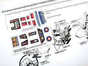 CUSTOM STAR WARS VINTAGE DIE CUT STICKERS For ISP ISP IMPERIAL - Star wars custom die cut stickers
