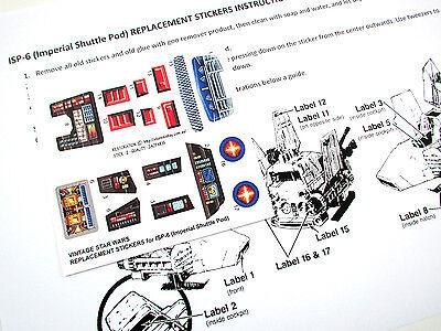CUSTOM STAR WARS VINTAGE DIE CUT STICKERS for ISP-6 ISP6 (IMPERIAL SHUTTLE POD)