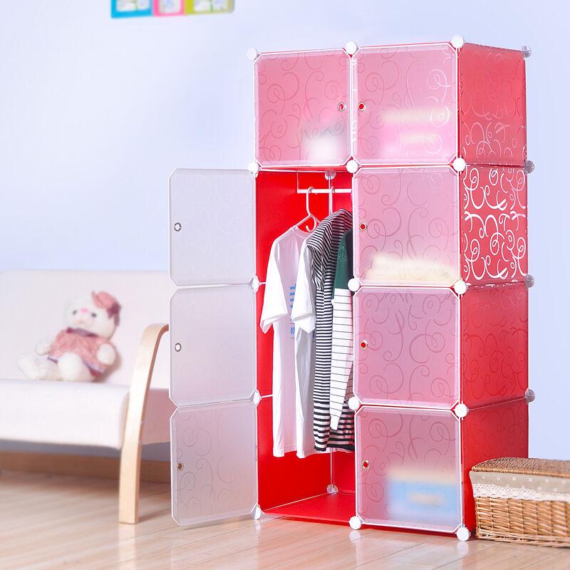 Closet Dresser Organizer Storage Furniture Bookcase Wardrobe (8) Cubitbox