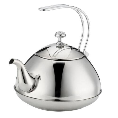 Kitchen Stainless Steel Tea Kettle Hot Water Pot Boiler Kitchen 1.0L//1.5L