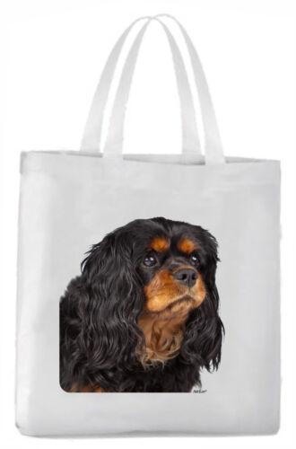 Tragetasche mit Bild Cavalier King Charles Spaniel Hund Beutel Einkaufstasche