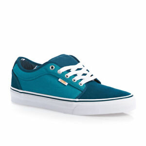 a01bae186548cb VANS Chukka Low (80 s Box) Teal Suede Blue Men s Skate Shoes Size ...
