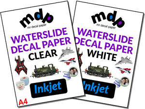 Water Slide Decal Paper A4 INKJET Waterslide Transfer Paper – TEN PACK SIZES