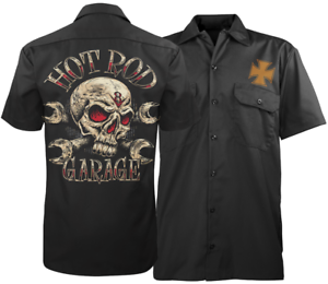 Hot-Rod-Garage-Men-039-s-Mechanic-039-s-Work-Shirt